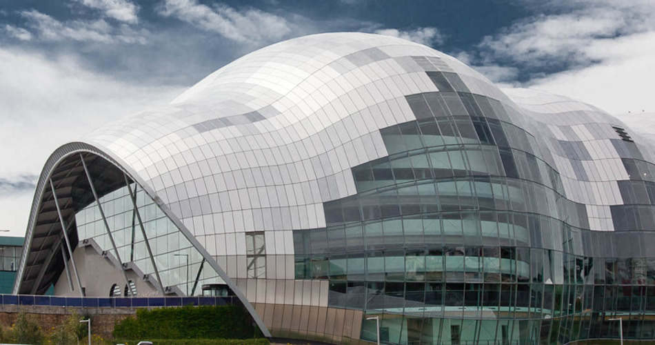 Концертный зал The Sage Gateshead в Гейтсхед в Великобритании