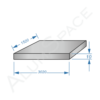 Алюминиевая плита 10,0 (1,52х3,02) 2017А Т451