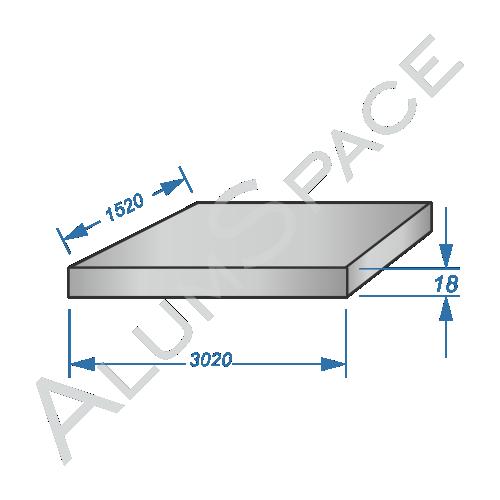 Алюминиевая плита 18 (1,52х3,02) 5083 фрез.