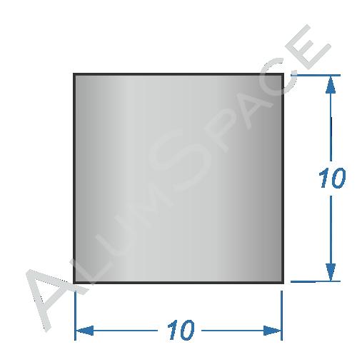 Алюминиевая полоса 10х10