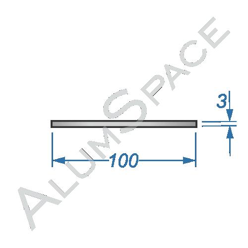 Алюминиевая полоса 100х3
