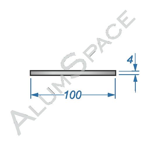 Алюминиевая полоса 100х4