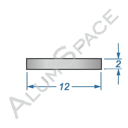 Алюминиевая полоса 12х2