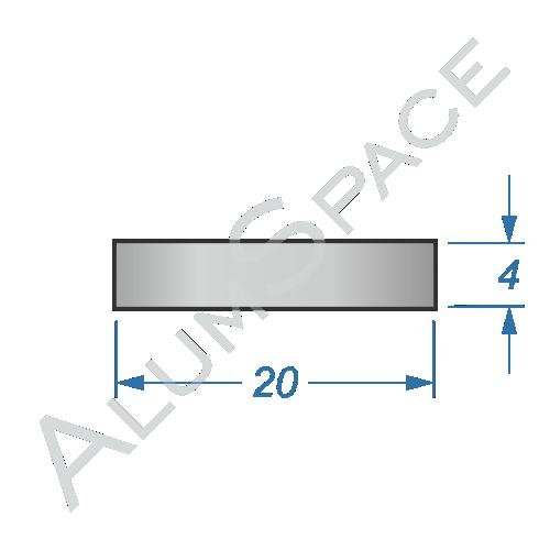 Алюминиевая полоса 20х4