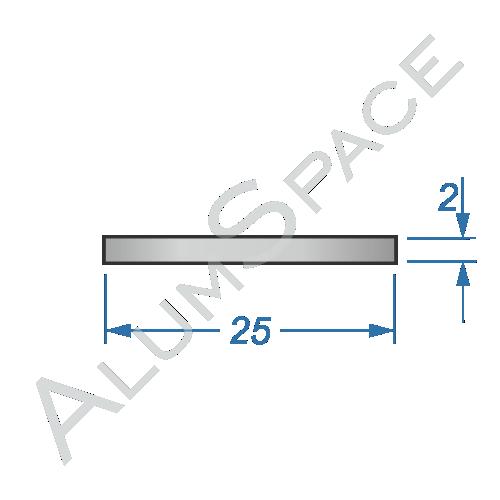Алюминиевая полоса 25х2