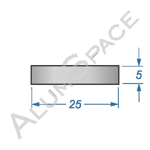 Алюминиевая полоса 25х5 Анод