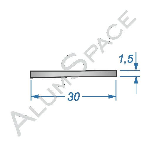 Алюминиевая полоса 30х1,5 Анод