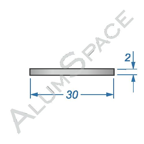 Алюминиевая полоса 30х2