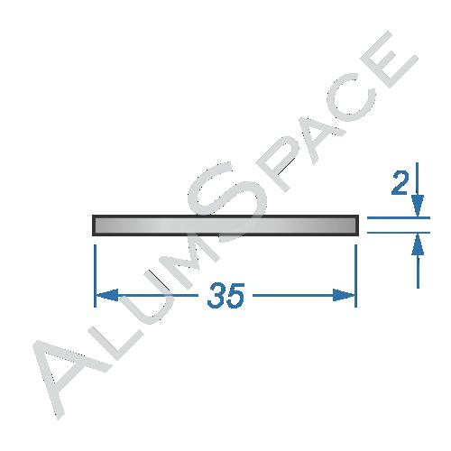 Алюминиевая полоса 35х2