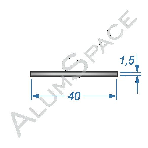 Алюминиевая полоса 40х1,5 Анод