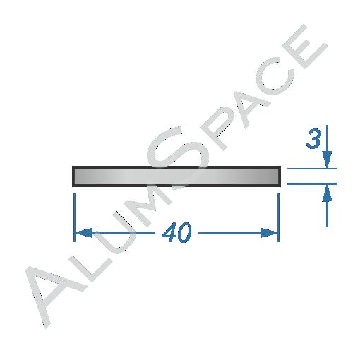 Алюминиевая полоса 40х3