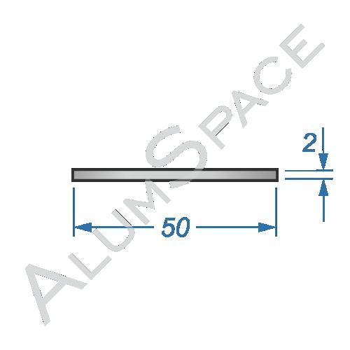 Алюминиевая полоса 50х2
