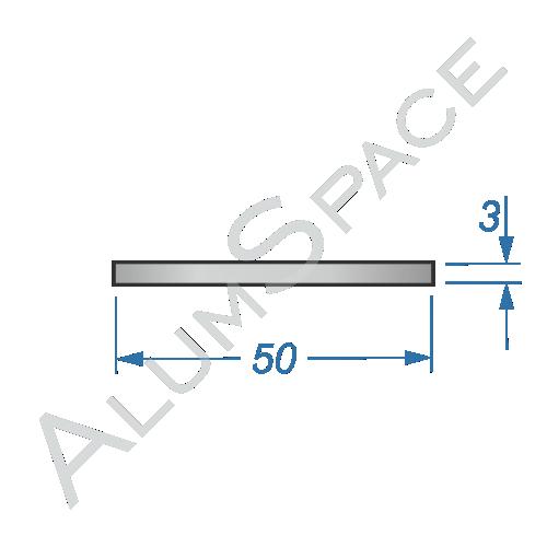Алюминиевая полоса 50х3
