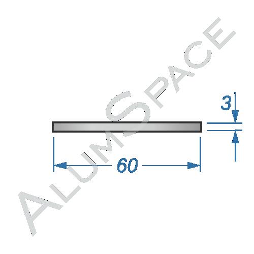 Алюминиевая полоса 60х3 Анод