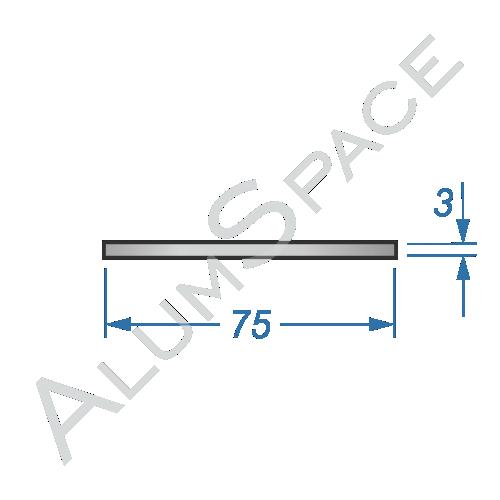 Алюминиевая полоса 75х3