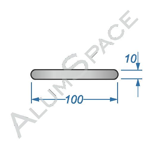 Алюминиевая полоса электротехническая 100х10