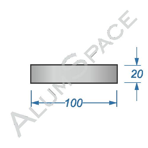 Алюминиевая полоса электротехническая прямоугольная 100х20