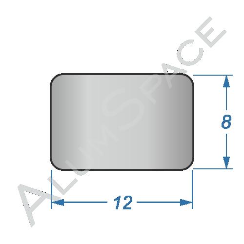Алюминиевая полоса электротехническая 12х8