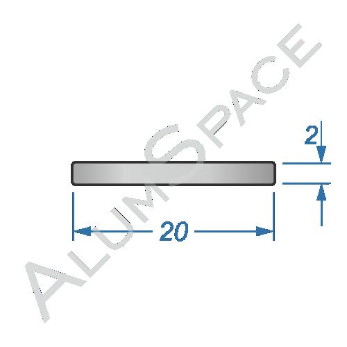 Алюминиевая полоса электротехническая 20х2