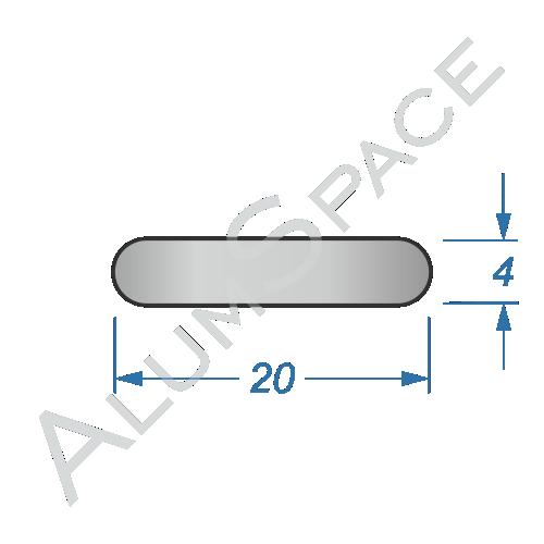 Алюминиевая полоса электротехническая 20х4