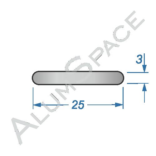 Алюминиевая полоса электротехническая 25х3