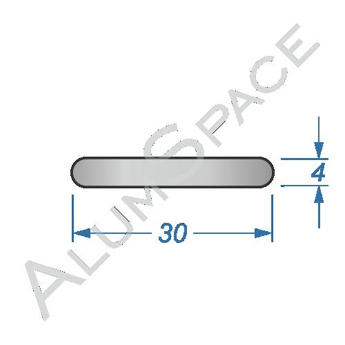 Алюминиевая полоса электротехническая 30х4
