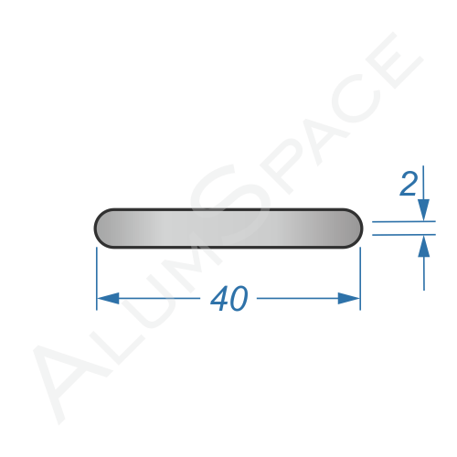 Алюминиевая полоса электротехническая 40х2