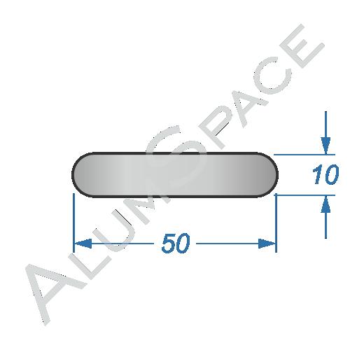 Алюминиевая полоса электротехническая 50х10