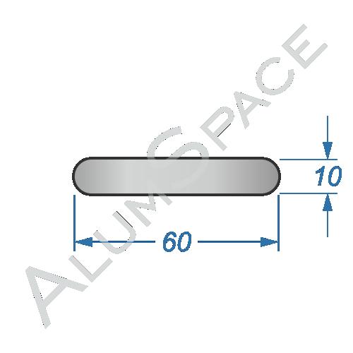 Алюминиевая полоса электротехническая 60х10