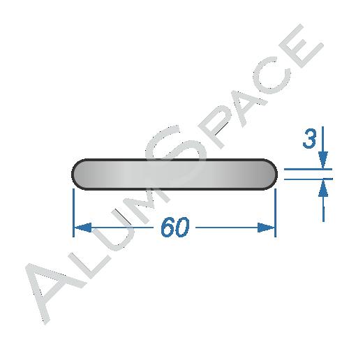 Алюминиевая полоса электротехническая 60х3