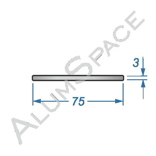 Алюминиевая полоса электротехническая 75х3