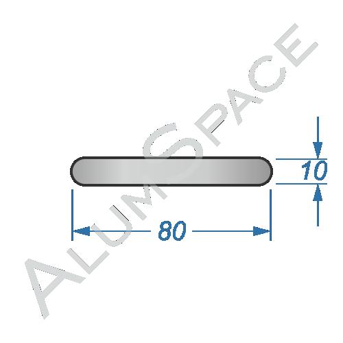 Алюминиевая полоса электротехническая 80х10