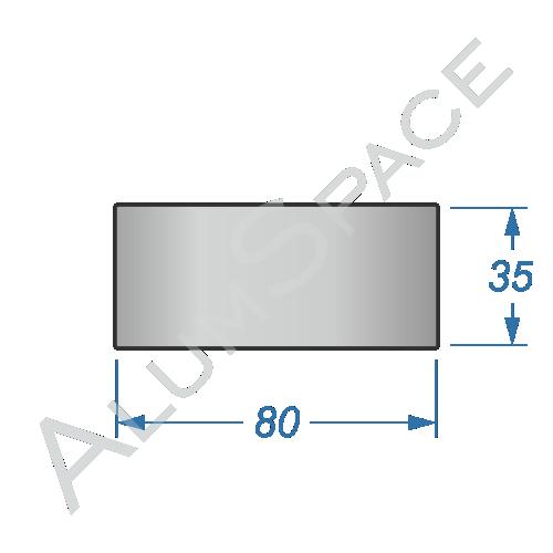 Алюминиевая полоса электротехническая 80х35