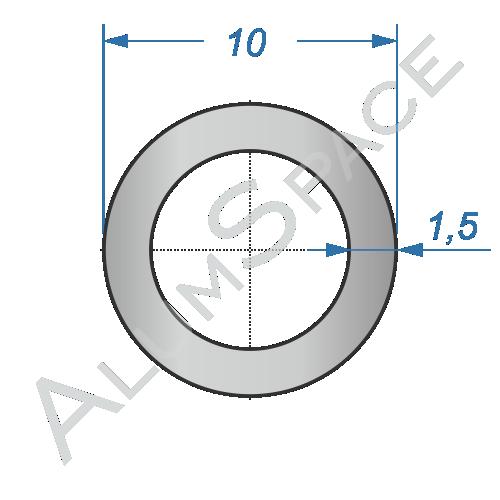 Алюминиевая труба круглая 10х1,5