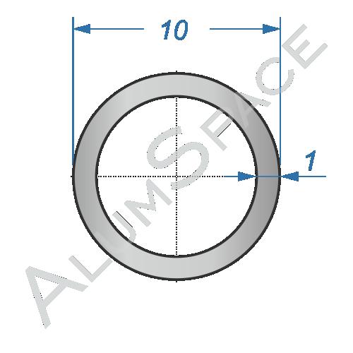 Алюминиевая труба круглая 10х1 Анод