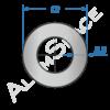 Алюминиевая труба круглая 12х2,5 Анод