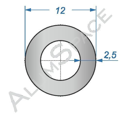 Алюминиевая труба круглая 12х2,5