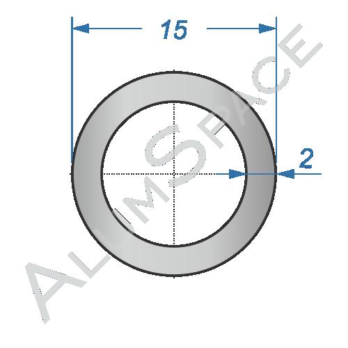 Алюминиевая труба круглая 15х2