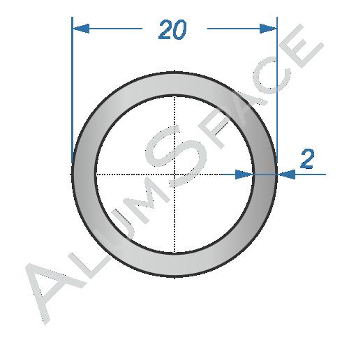 Алюминиевая труба круглая 20х2 Анод