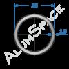 Алюминиевая труба круглая 25х1,5 Анод