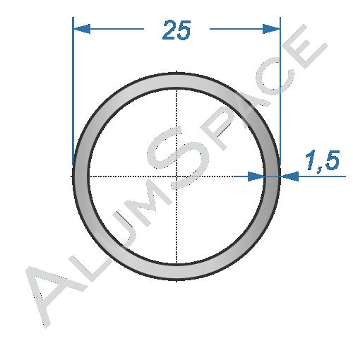 Алюминиевая труба круглая 25х1,5
