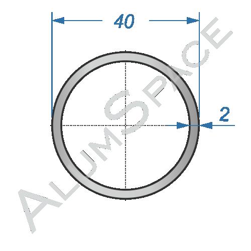 Алюминиевая труба круглая 40х2