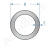Алюминиевая труба круглая 8х1 Анод