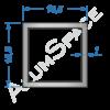 Алюминиевая труба квадратная 15,5х15,5х1 Анод