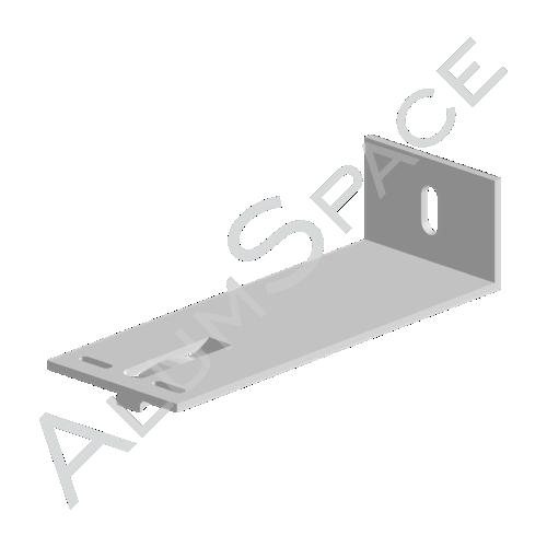 Алюминиевый кронштейн опорный 160х60х40