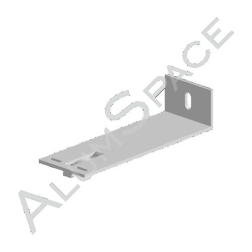 Алюминиевый кронштейн опорный 180х60х40