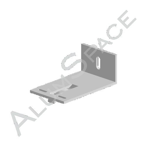 Алюминиевый кронштейн опорный 80х60х40