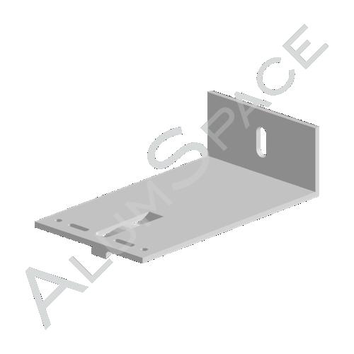 Алюминиевый кронштейн универсальный 140х80х40