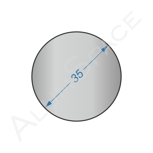 Алюминиевый круг 35 2024 Т351