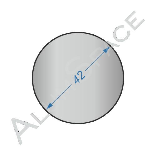 Алюминиевый круг 42 2024Т 351
